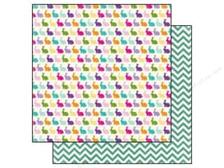 Clearance Blumenthal Favorite Findings: Echo Park 12 x 12 in. Paper Hippity Hoppity Bunnies (15 piece)