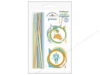 Party Supplies Captions: Doodlebug Embellishment Hip Hip Hooray Pixies Assorted