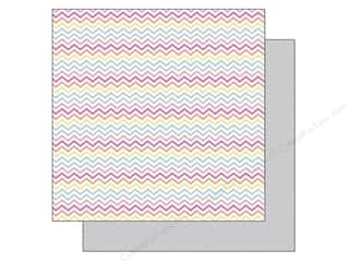 Doodlebug Paper 12 x 12 in. Sugar Shoppe Sherbet Chevrons (25 piece)