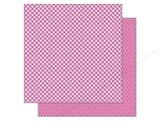Doodlebug Paper 12 x 12 in. Bubblegum Gingham (25 piece)