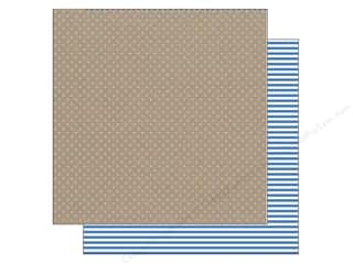 Doodlebug Paper 12x12 Kraft/Color Blue Jean Dot (25 piece)