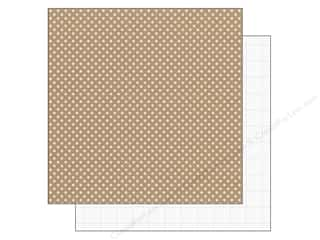 Doodlebug Paper 12 x 12 in. Lily White Dot (25 piece)