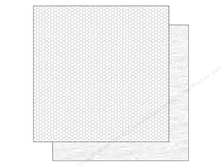 Doodlebug Paper 12 x 12 in. Lily White Woodgrain (25 piece)