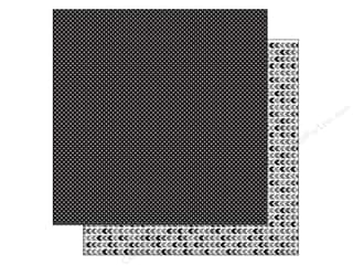 Doodlebug Paper 12 x 12 in. Beetle Black Dot (25 piece)