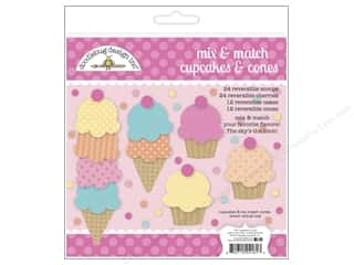 Doodlebug Craft Embellishments: Doodlebug Embellishment Sugar Shoppe Craft Kit Cupcakes & Ice Cream Cones