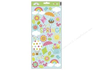 Captions Scrapbooking & Paper Crafts: Doodlebug Stickers Springtime Cardstock Icons