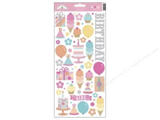 Captions: Doodlebug Stickers Sugar Shoppe Cardstock Icons