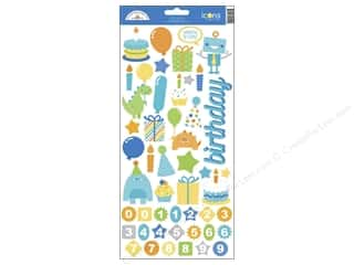 Doodlebug Birthdays: Doodlebug Stickers Hip Hip Hooray Cardstock Icons