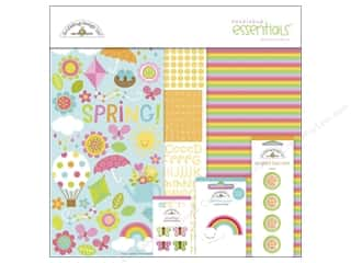 shape brads: Doodlebug Kit Essentials Springtime