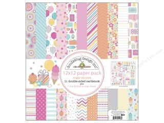 Sugar and Cream Printed Cardstock: Doodlebug Paper 12 x 12 in. Sugar Shoppe Assorted Pack