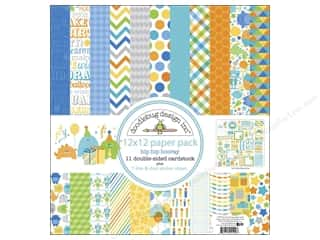 Doodlebug Paper 12 x 12 in. Hip Hip Hooray Assorted Pack