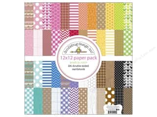Doodlebug Designer Papers & Cardstock: Doodlebug Paper 12 x 12 in. Kraft In Color Assorted Pack