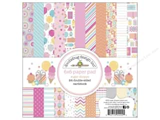 "Sugar and Cream Printed Cardstock: Doodlebug Paper Pad Sugar Shoppe 6""x 6"""
