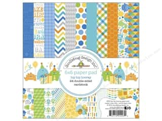 "Doodlebug Birthdays: Doodlebug Paper Pad Hip Hip Hooray 6""x 6"""