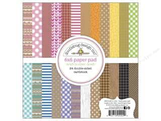 Printed Cardstock: Doodlebug Paper Pad 6 x 6 in. Kraft In Color Kraft