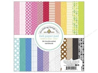 "Doodlebug Black: Doodlebug Paper Pad Kraft In Color 6""x 6"" Color"