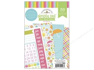 "Captions $4 - $6: Doodlebug Album Inserts Springtime Simply Put 4""x 6"""
