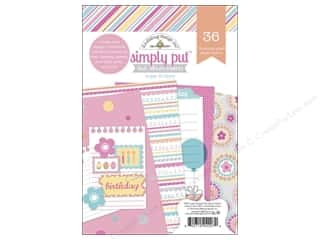 "Sugar and Cream Printed Cardstock: Doodlebug Album Inserts Sugar Shoppe 4""x 6"""