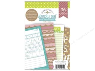 "Captions $4 - $6: Doodlebug Album Inserts Kraft In Color Simply Put 4""x 6"""