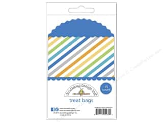 Weekly Specials Page Protectors: Doodlebug Hip Hip Hooray Treat Bags Streamer BlueJ