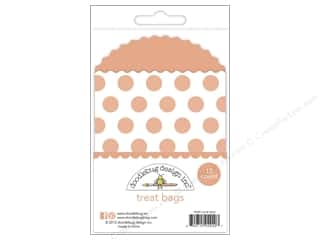 Doodlebug Kraft/Color Treat Bags Dots Coral