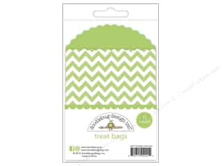 Doodlebug Kraft/Color Treat Bags Chevron Limeade