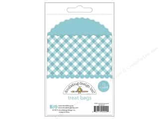 Doodlebug Kraft/Color Treat Bags Gingham SwimPool