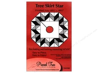 "Pieced Tree Patterns 10"": Pieced Tree Tiny Tree Skirt Star Pattern"