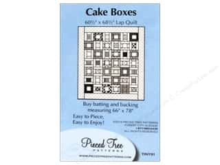 "Pieced Tree Patterns 10"": Pieced Tree Tiny Cake Boxes Pattern"