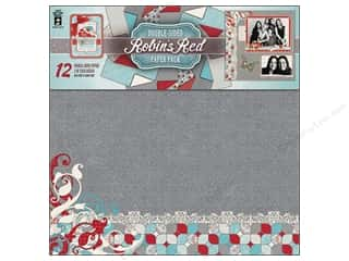 "Cabbage Rose Hot Off The Press Paper Pack: Hot Off The Press Paper Pack 12""x 12"" Robin's Red"