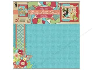 "Hot off the Press Black: Hot Off The Press Paper Pack 12""x 12"" Pretty Little Posies"