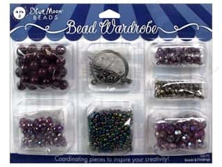 seed beads: Blue Moon Beads Bead Wardrobe Kit Purple
