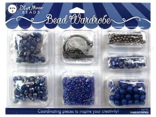 seed beads: Blue Moon Bead Kits Bead Wardrobe Dark Blue