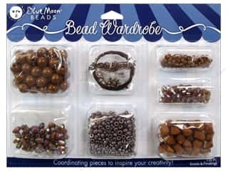 seed beads: Blue Moon Beads Bead Wardrobe Kit Caramel