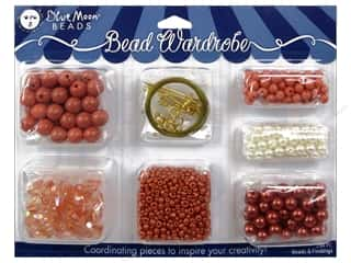 seed beads: Blue Moon Beads Bead Wardrobe Kit Peach