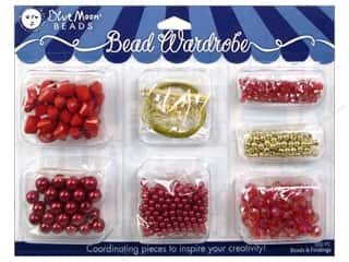 Blue Moon Beads Bead Wardrobe Kit Red & Gold