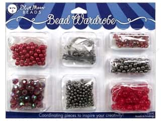 Blue Moon Beads Bead Wardrobe Kit Red & Black