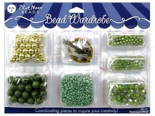 seed beads: Blue Moon Beads Bead Wardrobe Kit Green