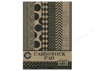 Papers Printed Cardstock: Canvas Corp 5 x 7 in. Cardstock Pad Black & Kraft Prints
