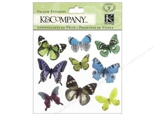 Findings Lily: K&Company Stickers Lily Ashbury Indigo Garden Vellum Butterfly