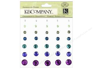 Glue and Adhesives Blue: K&Company Adhesive Embellishments Lily Ashbury Indigo Garden Gems
