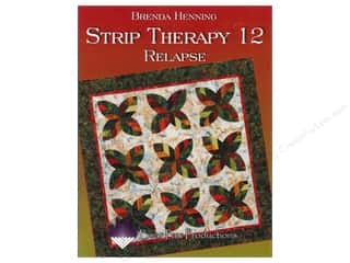 Bear Paw Productions Fat Quarter / Jelly Roll / Charm / Cake Books: Bear Paw Productions Strip Therapy 12 Relapse Book by Brenda Henning