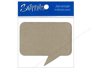Paper Accents Chipboard Shape Caption 3 pc. Kraft (3 pieces)