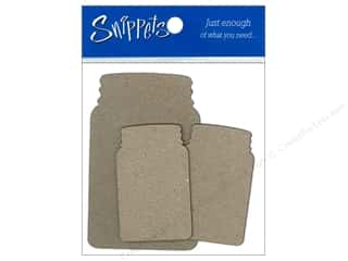 Jars New: Paper Accents Chipboard Shape Canning Jars 3 pc. Kraft