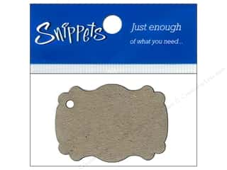 chipboard tags: Paper Accents Chipboard Shape Marquee #1 Tag 4 pc. Kraft (3 pieces)