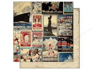 Authentique 12 x 12 in. Paper Abroad Travel (25 piece)