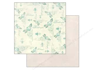 Spring Printed Cardstock: Authentique 12 x 12 in. Paper Flourish Plume (25 piece)