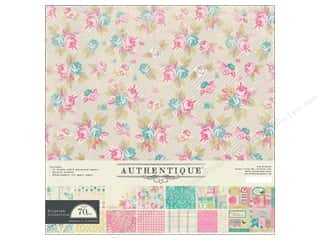 Spring Printed Cardstock: Authentique 12 x 12 in. Flourish Collection Kit