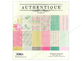 Spring Printed Cardstock: Authentique Paper Pad 12 x 12 in. Flourish