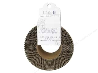 Little B Decorative Paper Tape 1 5/8 in. Corrugate Kraft